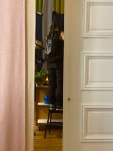 Filminspelning på PS Matsal bakom stängda dörrar